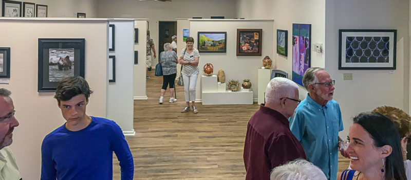 Gallery XII hosts opening receptions for new exhibitions during Final Friday each month. Upcoming exhibits include: paintings by Tom Montgomery with ceramics by Dan Gegen on display until Oct. 23, and  photography by John Ellert with fiber and enamel by Susan DeWit from Oct. 26 to Nov. 27.