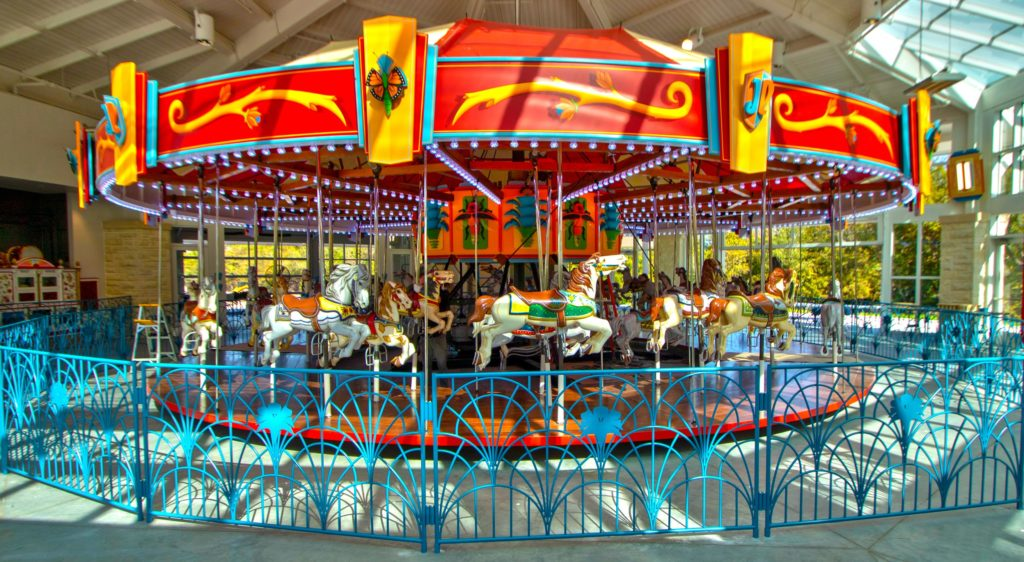 Restoration of the historic Joyland carousel has been completed at its new home in Botanica.